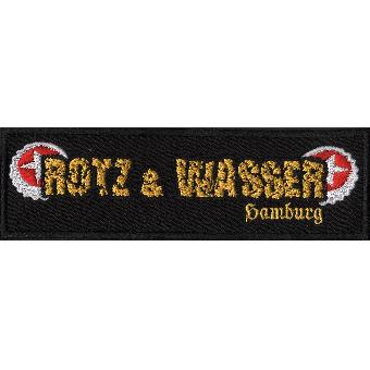 """Rotz & Wasser """"Logo 2"""" Aufnäher / patch (gestickt)"""