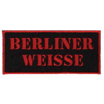 """Berliner Weisse """"Schriftzug"""" Aufnäher / patch (gestickt)"""