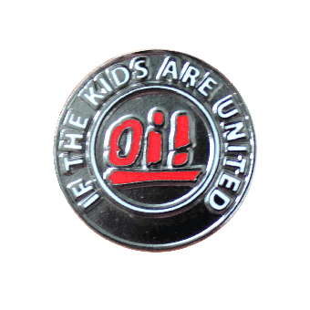 Oi! if the kids are united Hartemaille Pin