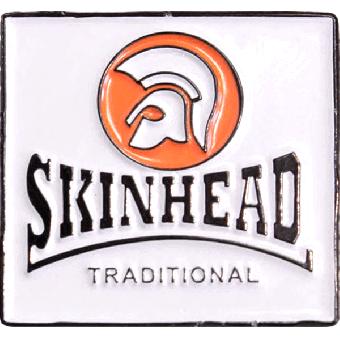 Skinhead Traditional Hartemaille Pin (43) NEU