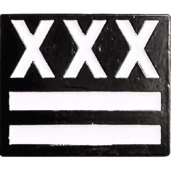 XXX Straight Edge Hartemaille Pin (28 NEU)