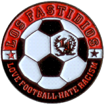 "Los Fastidios ""Love Football - Hate Racism"" - Hartemaille Pin (17) NEU"