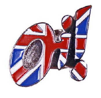 "Oi! ""Union Jack"" - Hartemaille Pin (38NEU)"