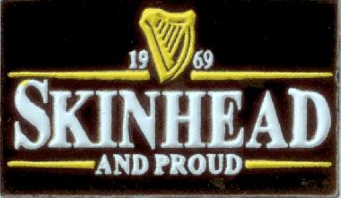 Skinhead & Proud - Hartemaille Pin (52) NEU