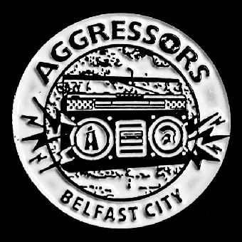 "Aggressors B.C. ""Ghettoblaster"" Hartemaille Pin"