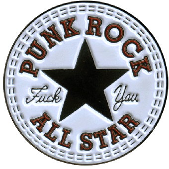 """Punk Rock All Stars """"Fuck You"""" Hartemaille Pin 081"""