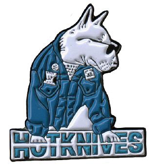 """Hotknives """"Bulldog"""" Hartemaille Pin 082"""