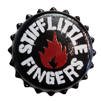 "Stiff Little Fingers ""Flame"" Hartemaille Pin"