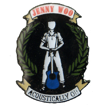 """Jenny Woo """"Logo"""" Hartemaille Pin (109)"""