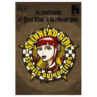 "Skinhead Girl ""Spirit of the Streets"" 10 x Postkarten / Postcards Set"