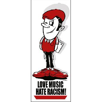 Love Music Hate Racism - Langbahn Poster (A1) (gefaltet)