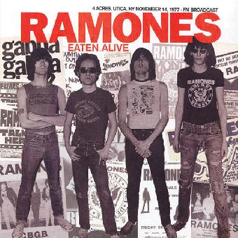 "Ramones ""Eaten Alive - 4 Acres, Utica, 1977"" LP (lim. 500, black)"