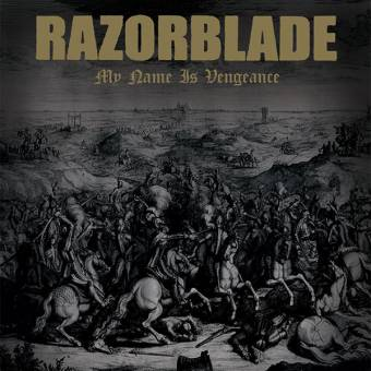 "Razorblade ""My Name Is Vengeance"" LP (lim. 100, gold / black splatter)"