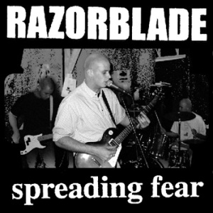 "Razorblade ""Spreading fear"" LP (blue)"
