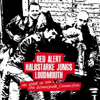 "split Red Alert / Halbstarke Jungs / Loudmouth 10"" (Cover 4, lim. 100)"