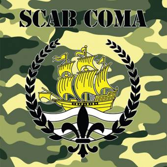 "Scab Coma ""same"" EP 7"" (lim. 100, green-splatter)"