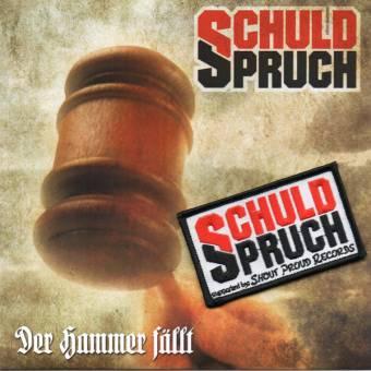 """SchuldSpruch """"Der Hammer fällt"""" EP 7"""" (lim. 110, black + patch)"""
