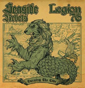 """split Seaside Rebels / Legion 76 """"Turning The Tide"""" EP 7"""" (lim. 300, splatter)"""