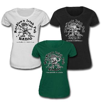 """MacSlon`s Irish Pub Radio """"Logo"""" Girly Shirt"""