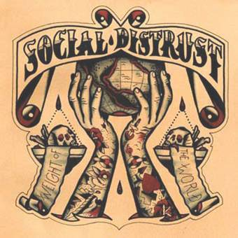 "Social Distrust ""Weight of the world"" LP (lim. 200, red orange splatter)"