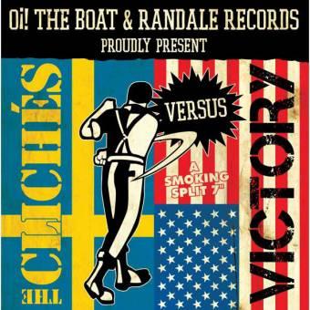 "split Cliches / Victory ""A smoking split"" EP 7"" (lim.250, yellow)"