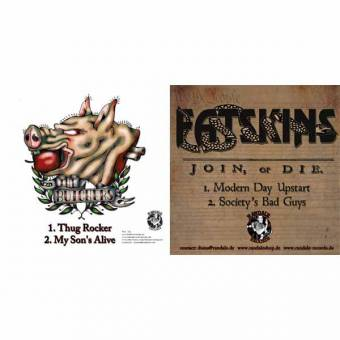 "split Fatskins / Butchers ""Join or die"" EP 7"""