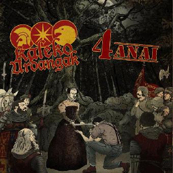 """split Kaleko Urdangak / 4 Anai """"same"""" LP (black)"""