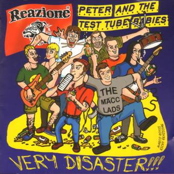 "split Reazione / Peter and the Test Tube Babies ""Very Disaster"" LP"