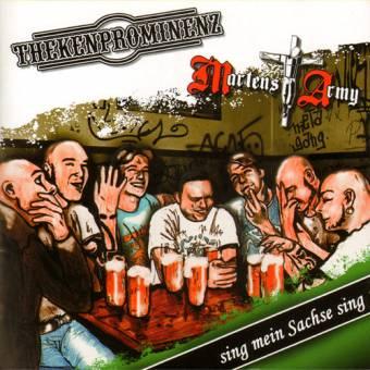 "split Martens Army / Thekenprominenz ""Sing mein Sachse sing"" CD"