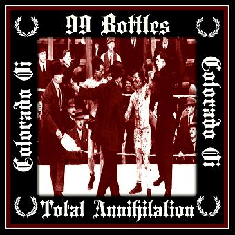 """split 99 Bottles / Total Annihilation """"same"""" EP 7"""" (+patch)"""