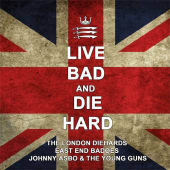 "split London Diehards / East End Badoes / Johnny Asbo ""Live ..."" LP (splatter)"