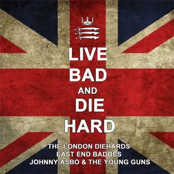 "split London Diehards / East End Badoes / Johnny Asbo ""Live ..."" LP (splatter)"