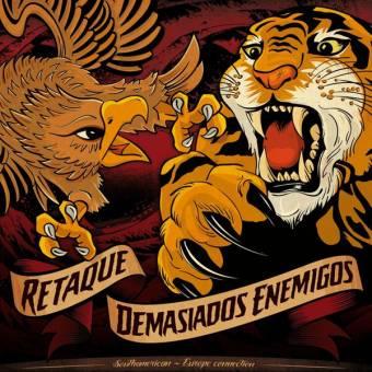 """split Retaque / Demasiados Enemigos """"South American - Europe Connection"""" LP"""