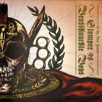 """split Stomper 98 / Brassknuckle Boys """"same"""" EP 7"""" (black)"""