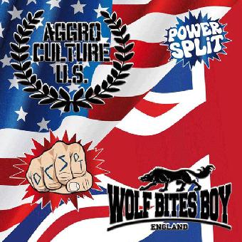 "split Aggroculture U.S. / Wolf Bites Boy ""same"" LP (lim. 300, black)"