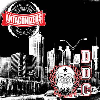 "split Antagonizers / DDC ""same"" EP 7"" (lim. 200, red splatter)"