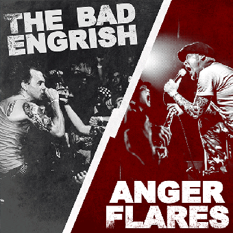 "split Bad Engrish, The / Anger Flares ""same"" EP 7"" (lim. 300, red)"