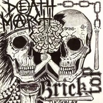 "split Bricktop / Death March ""Punx + Skins"" EP 7"""