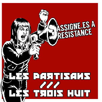 """split Les Partisans / Les Trois Huit """"same"""" EP 7"""" (black)"""