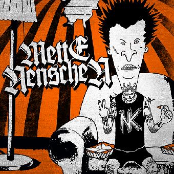 """split Mette Nenschen / Normenkollision """"same"""" EP 7"""" (lim. 100, orange)"""