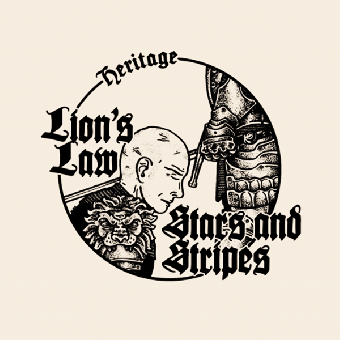 "split Lion`s Law / Stars & Stripes ""Heritage"" EP 7"" (lim.500, black/ bone)"