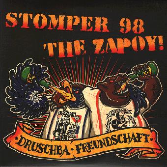 "split Stomper 98 / The Zapoy! ""Druschba Freundschaft"" EP 7"" (clear purple)"