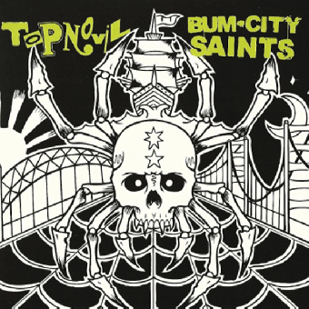 "split Topnovil / Bum City Saints ""same"" 7"" EP+MP3 (lim. 500 yellow/blk)"