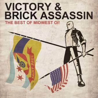 "split Victory / Brick Assassin ""Best of midwest Oi!"" EP 7"" (lim. 400, black)"