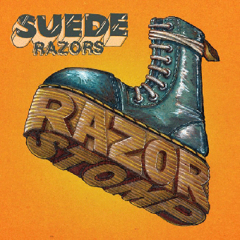 "Suede Razors ""Razor Stomp"" MLP 12"" (lim. 450, orange splatter)"