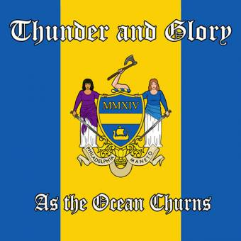 "Thunder And Glory ""As The Ocean Churns"" EP 7"" (lim. 200, yellow-blue)"