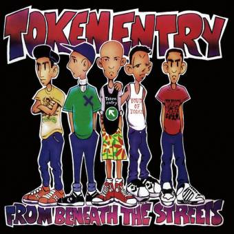 """Token Entry """" From beneath the streets"""" LP (black marbled)"""