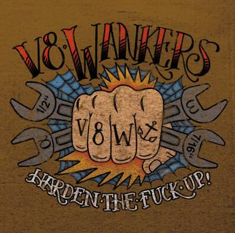"V8 Wankers ""Harden the fuck up!"" LP (lim. 53, chrome grey)"
