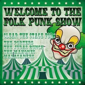 V/A Welcome to the Folk Punk Show LP (lim. 500, orange) (Porters, Mahones)