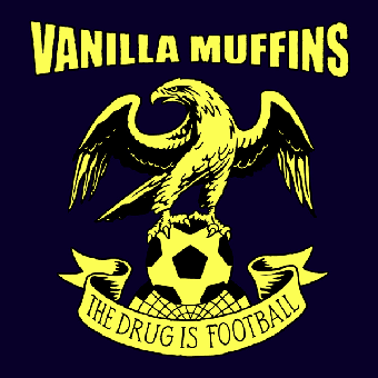 """Vanilla Muffins """"The drug is football"""" DoEP 7"""" (lim. 200, red / blue)"""
